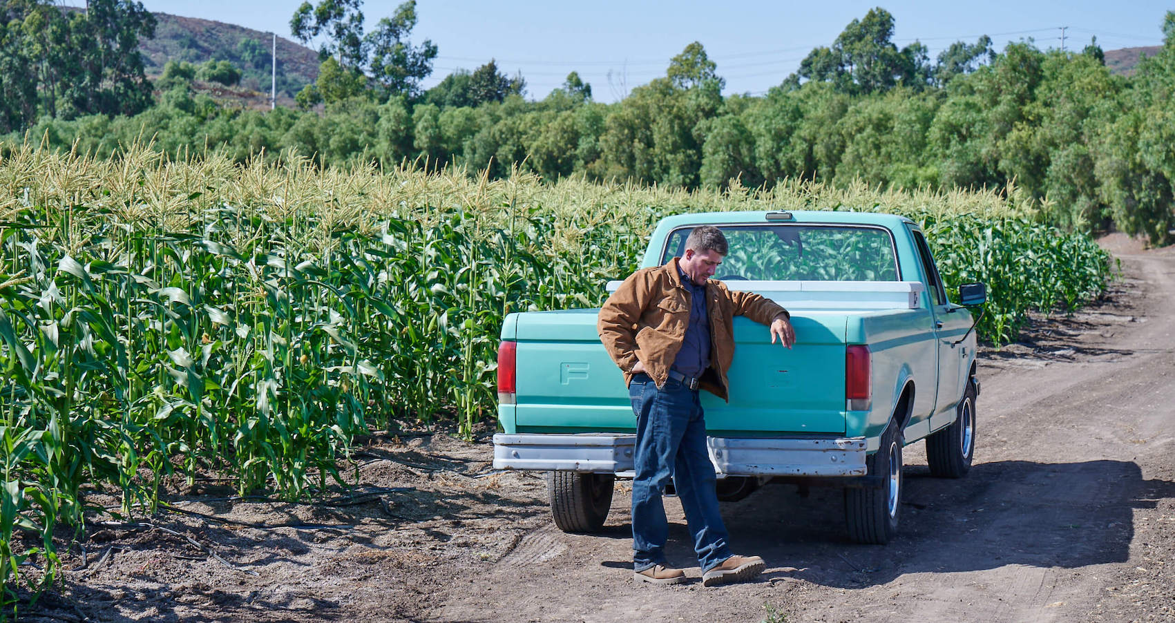 Farmer ready to fly his drone