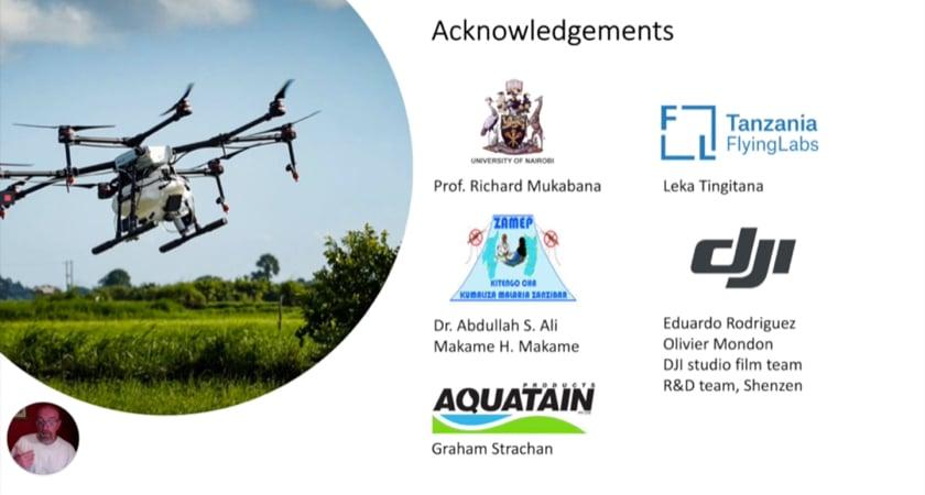 Anti-malaria acknowledgements slide