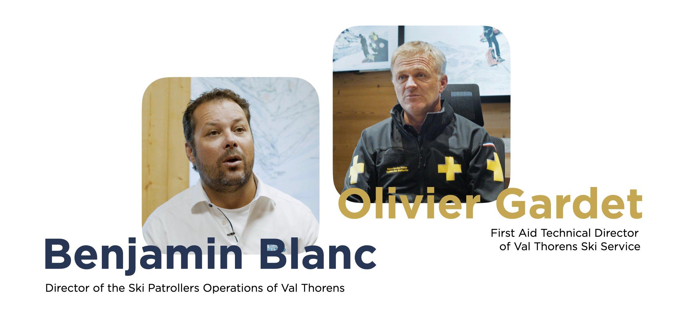Benjamin Blanc and Olivier Gardet Drone Team