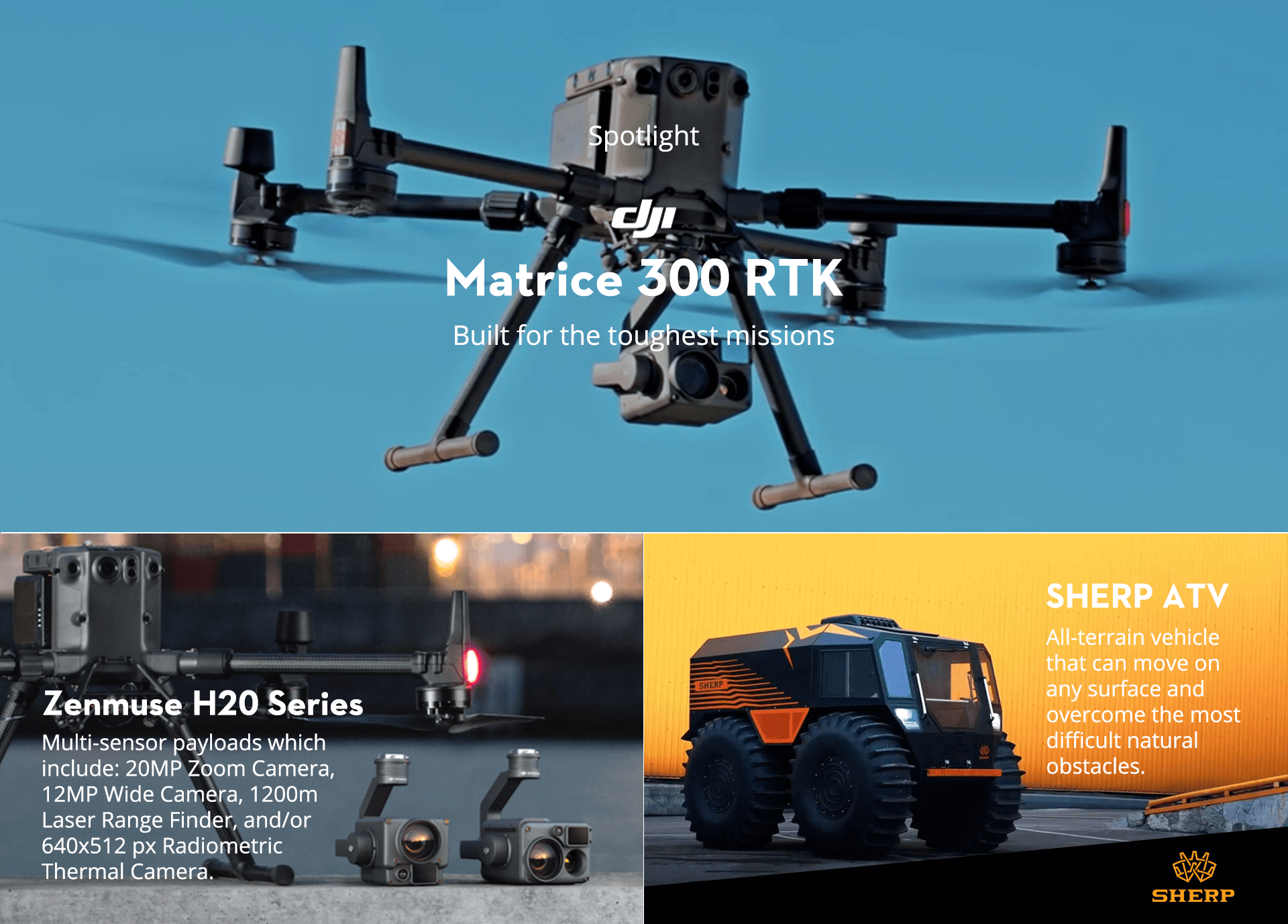 ATVs Drone Product Overview Infographic