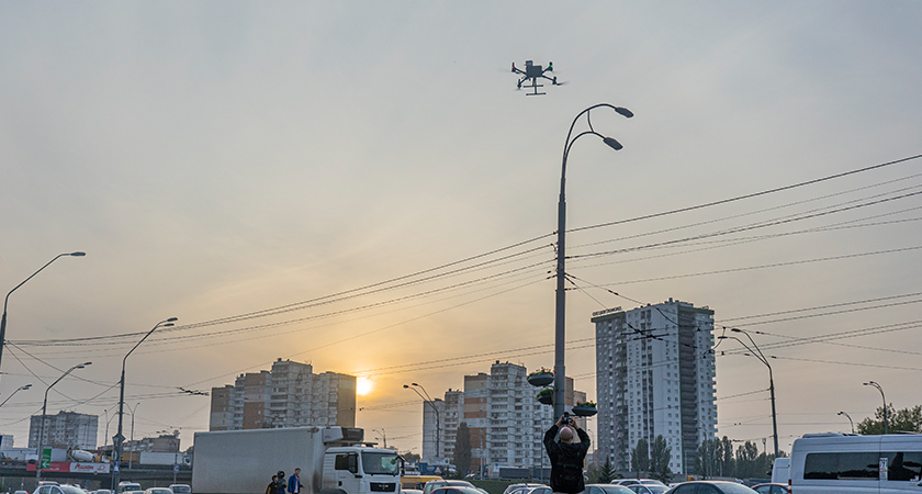 Drone Over Kiev 840x450