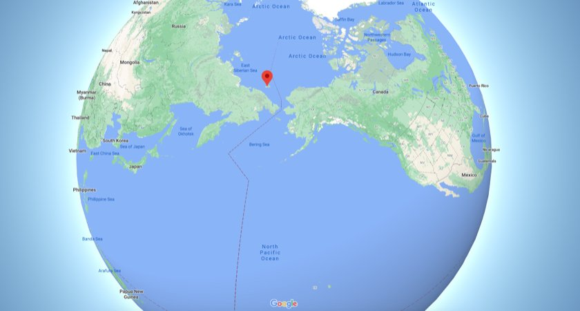 Wrangel Island on the map