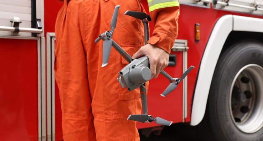 Drone Insurance M2EA firefighter