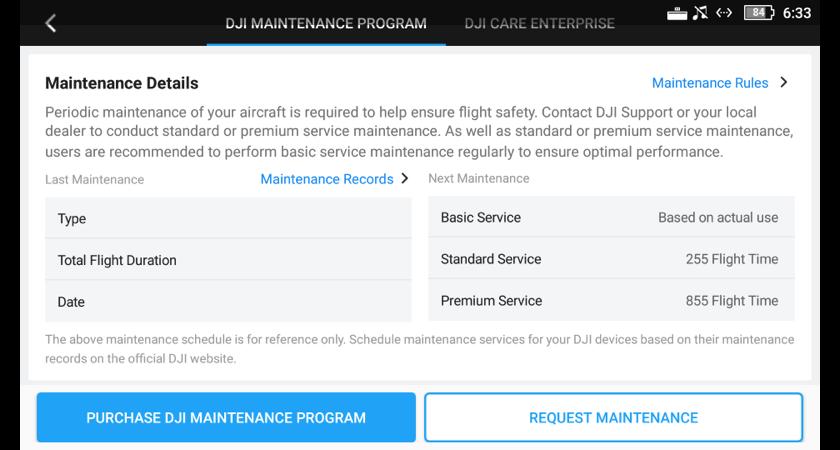 7. UAV Health Management - DJI Maintenance Program