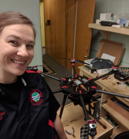 Katie Thielmeyer 4 with drone on table