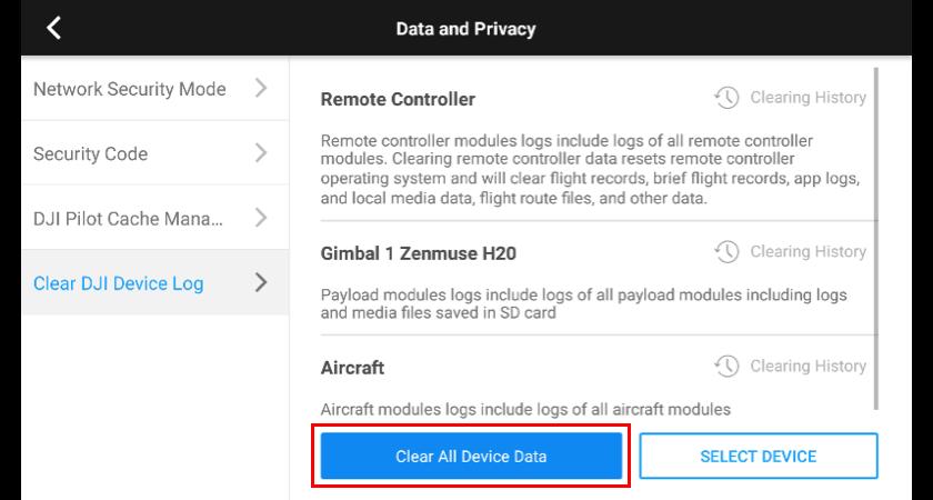 6. Delete All Device Data
