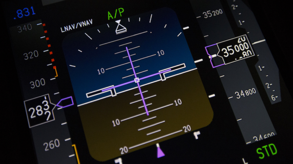 Commercial Aircraft Primary Flight Display