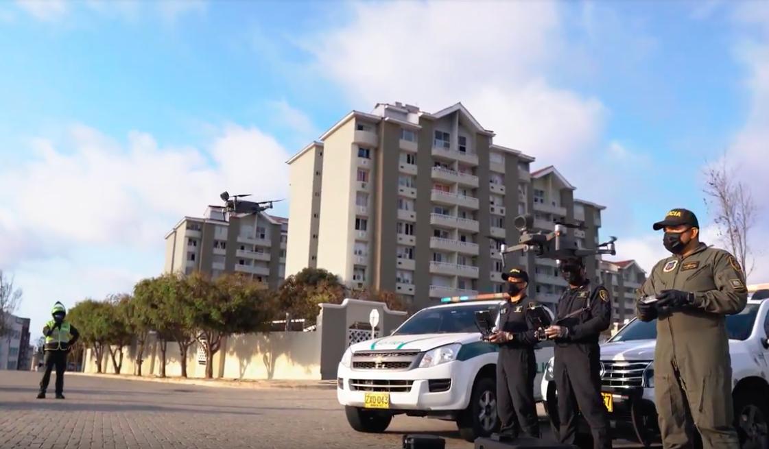 Policia Baranquilla utiliza drones