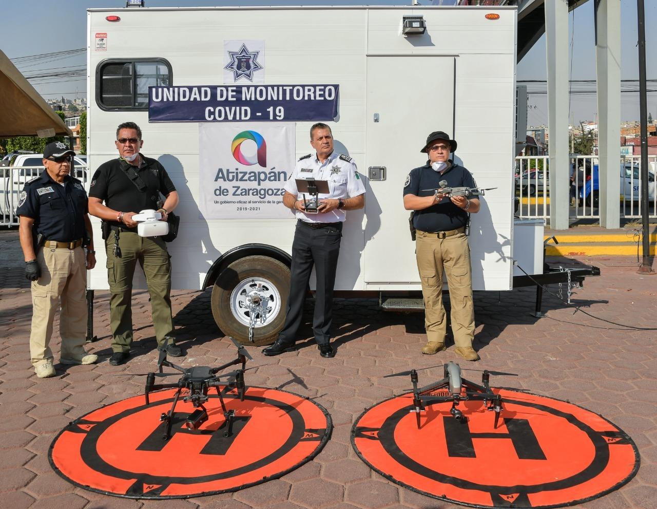 Policia Atizapan utiliza drones