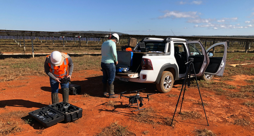 Drone Solar Inspection Pilots and Truck