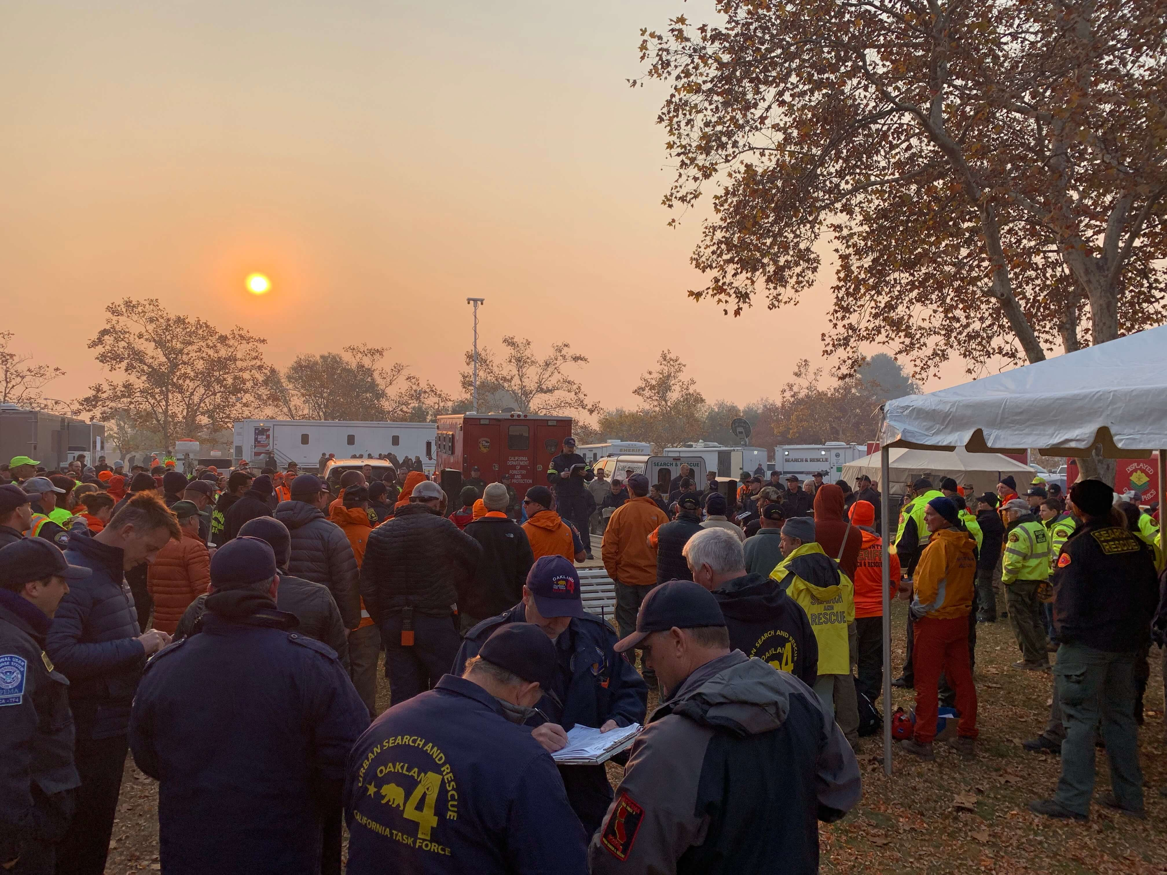 response team at camp fire