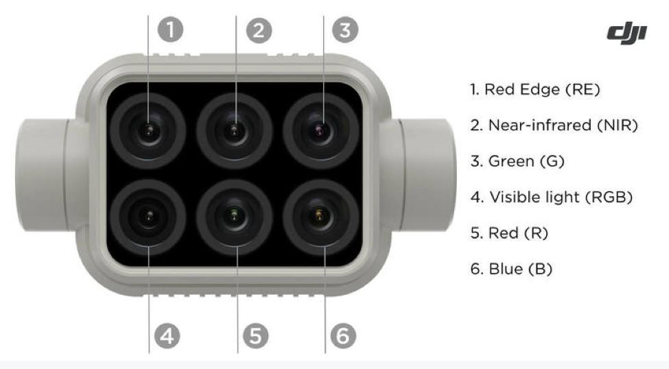 P4 Multispectral sensors