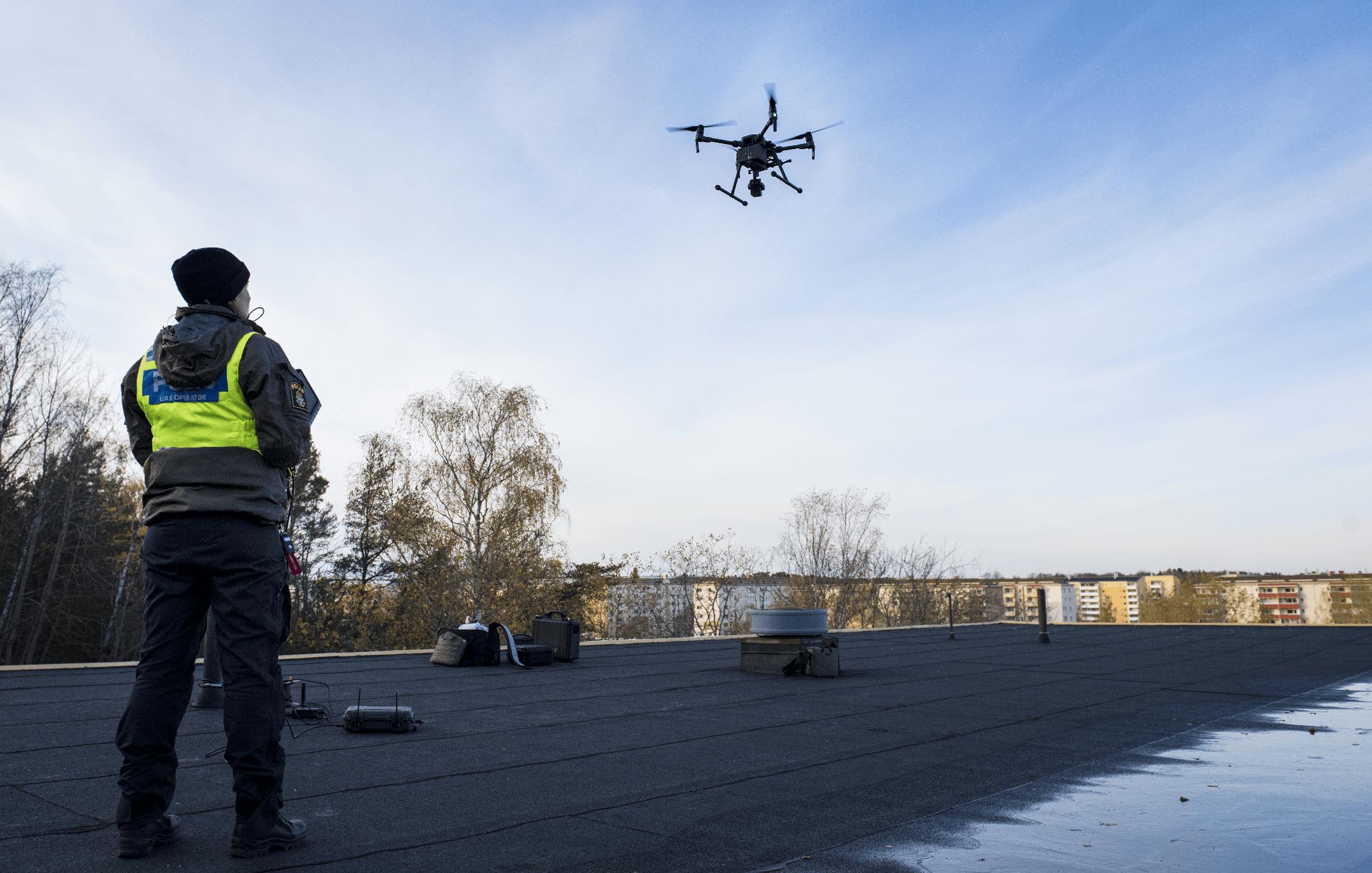 Swedish police using drones