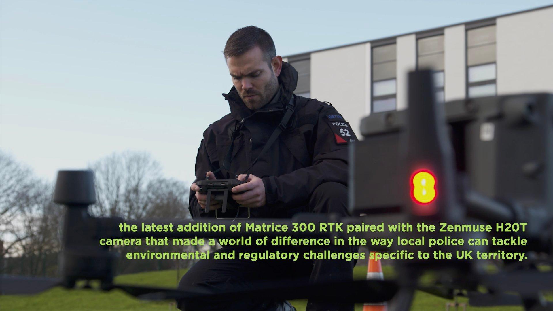UK Police Upgrading to the Matrice 300 RTK drone