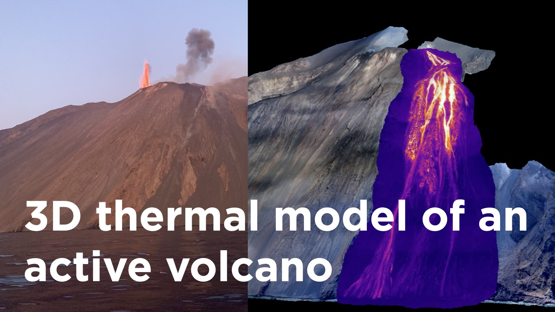 first 3d thermal model of an active volcano
