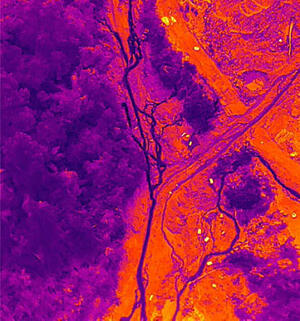 Vietnam Flood Infrared SAR