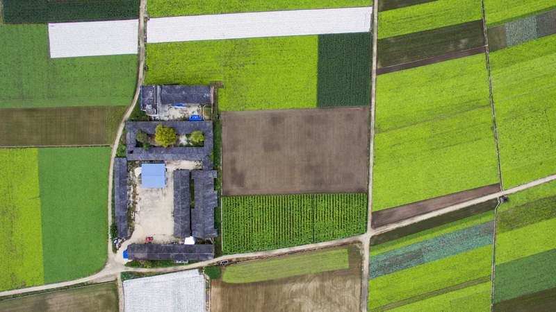 Flying over fields